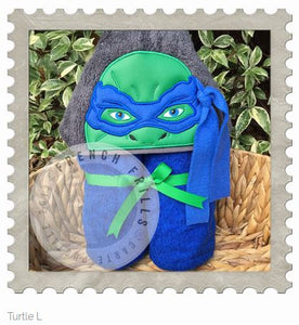 Turtle L Hooded Bath Towel