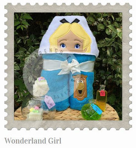 Wonderland Girl Hooded Bath Towel