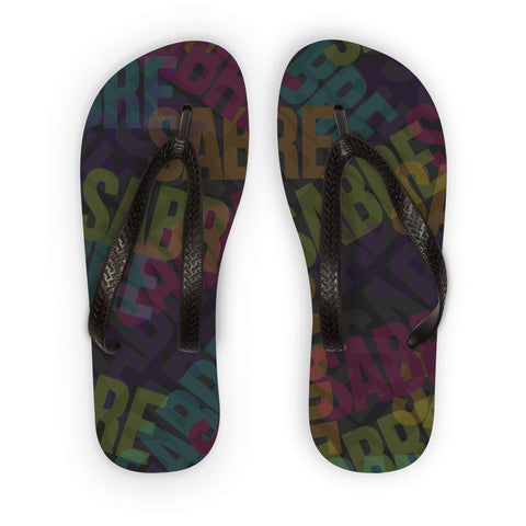Sabre Takeover - Dark Colors  Flip Flops