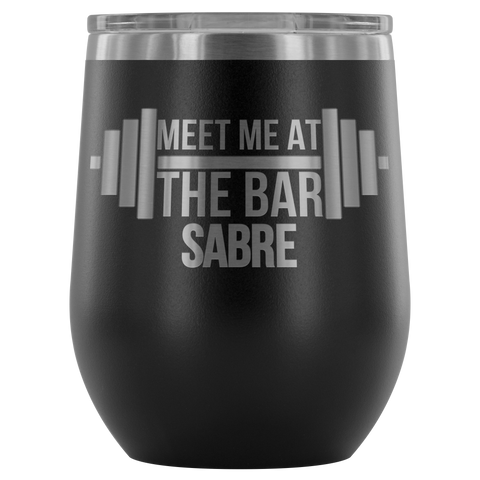 Meet Me At The Bar - Wine Glass