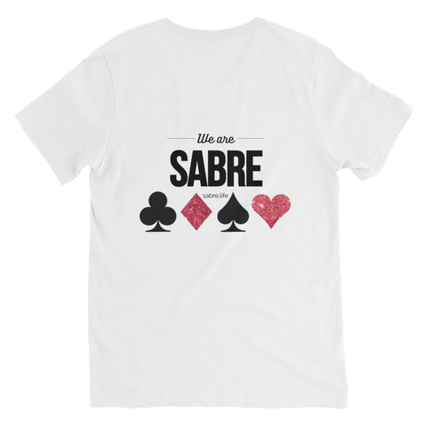 Sabre Vegas Unisex Short Sleeve V-Neck T-Shirt