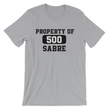 PROPERTY OF SABRE | Unisex short sleeve t-shirt