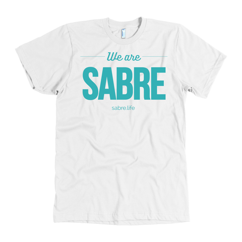We Are Sabre American Apparel T-Shirt | Blue Logo