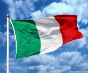 Italian Flags various dimensions