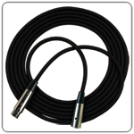 Economy 25 FT Black jacket cable XLRF to XLRM