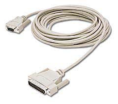 Null Modem Cable - DB9 Female to DB25 Male