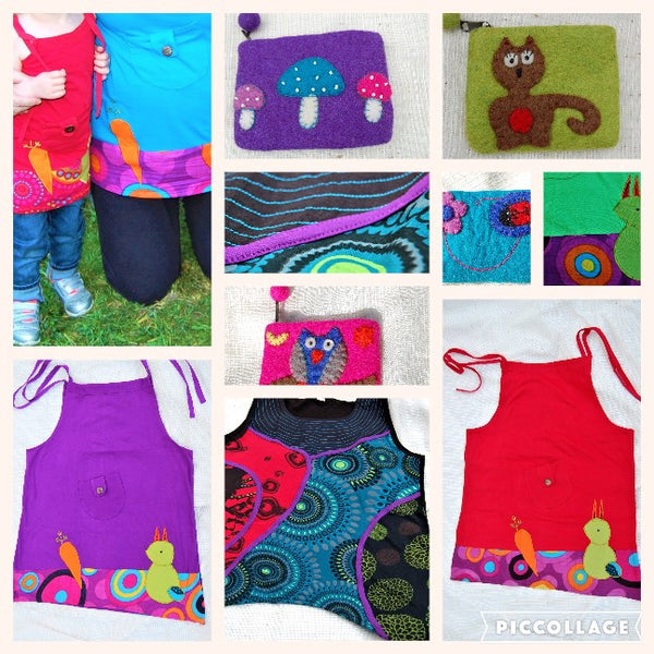 SUMMER SALE - 25% off boho dresses and tops for kids and adults and 25% off felt purses too!