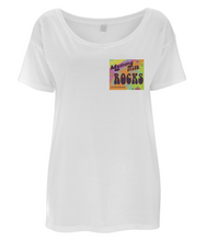 "Psychedelic ""Mummy Milk Rocks"" Organic Cotton / Tencel Oversized T-Shirt"