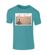 """We Are Many"" Sepia Corbyn and Crowd on Men's Cotton T-Shirt"