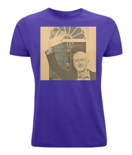 JC at no 10 (sepia) on Unisex Cotton T-Shirt