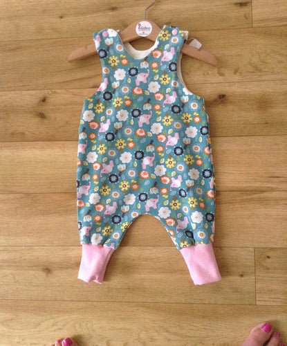 Pretty Elephant and Flower Romper