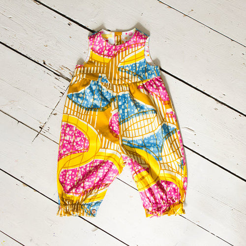 African Print Multicoloured Cotton Baby Romper