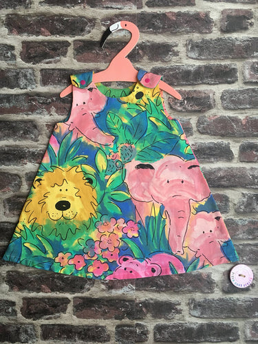 Pre-School Children's and Babies' Retro Colourful Jungle Pinafore Dress