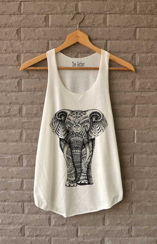 Women's Elephant Aztec Tank Vest Top