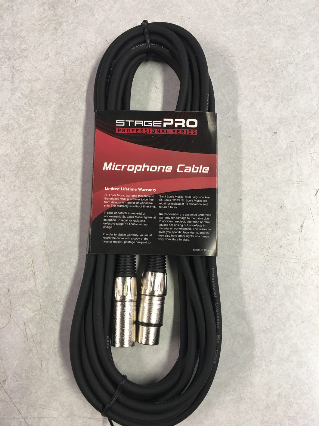 StagePro 30' Mic Cable, Low-Z, Pro Series, XLR, M-F