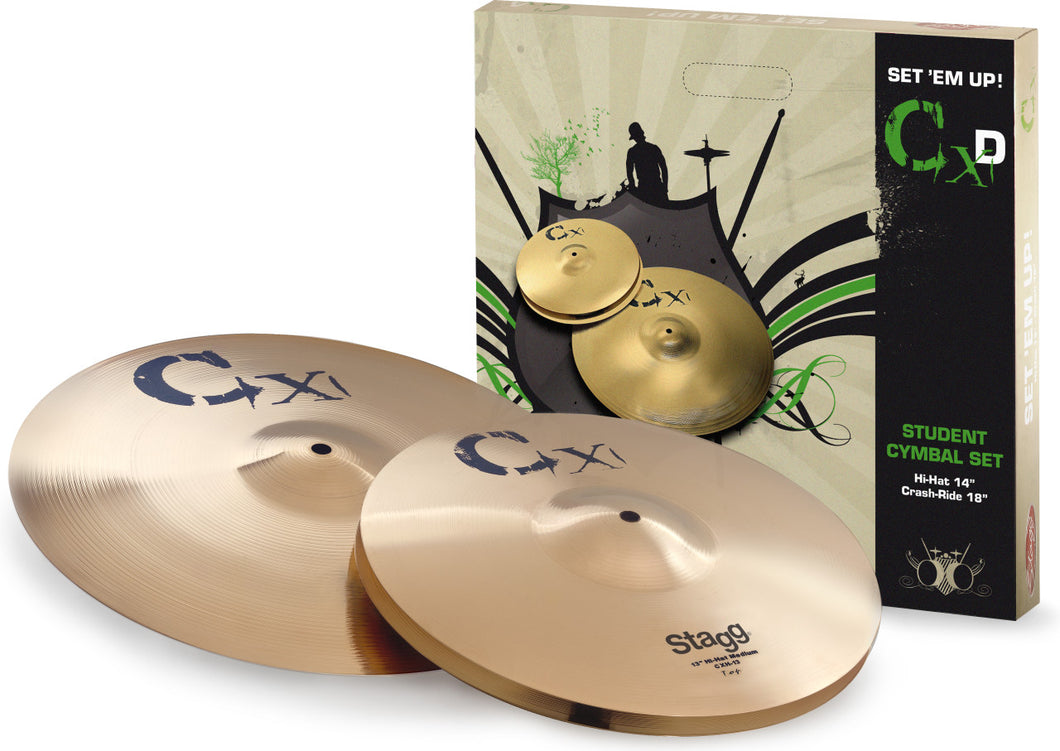 Stagg CXD Standard Brass Cymbal Set