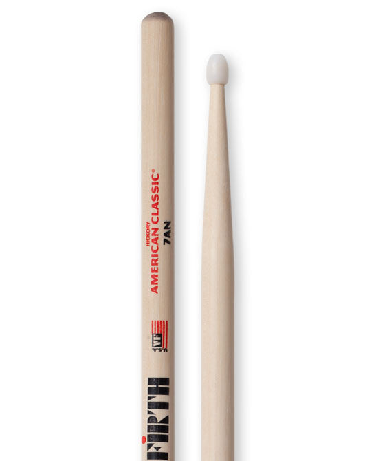 Vic Firth 7A American Classic drum sticks, Nylon Tip, pr.