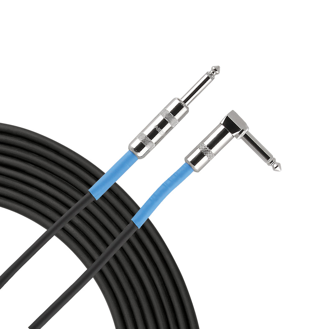 Live Wire Advantage Series 1/4″ Angled – Straight Instrument Cable – 10 Foot