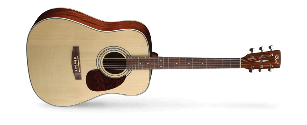 Cort Earth 70 Dreadnought Acoustic, Natural Finish