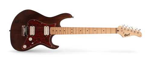 Cort G100 HH Electric Guitar, Open Pore Walnut Finish