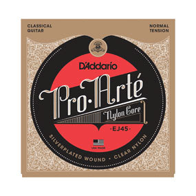 D'Addario Pro Arte' EJ45 Clear Nylon Classical Guitar Strings