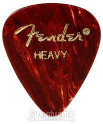 Fender 351 shape Heavy Picks, Shell, 12 Pack