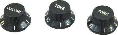 DiMarzio Strat Replacement Knob Set Black