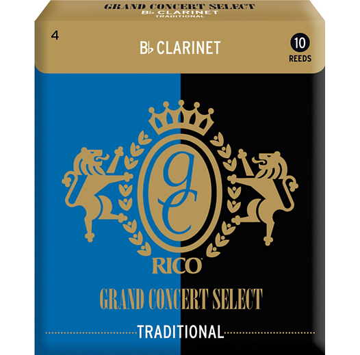 Grand Concert Select Bb Clarinet Reeds, 4.0, 10/pk.