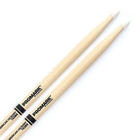 PROMARK 5B Hickory drum sticks, nylon tip, pr.