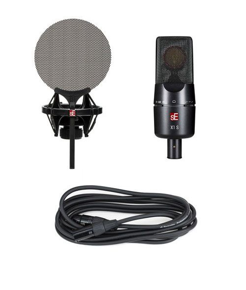 sE Electronics X1 S Vocal Bundle with Shockmount, Pop Filter, and Cable