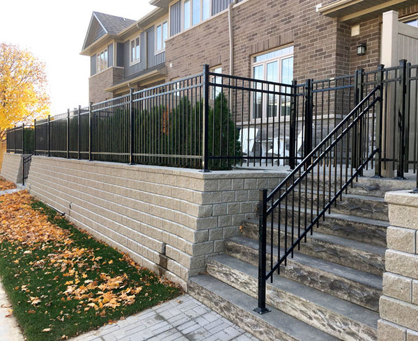 Cambridge black wrought iron fence by Campbell Fence