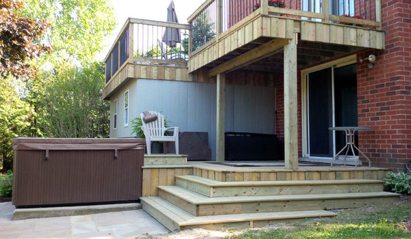 Iron deck railing Cambridge Kitchener Campbell Fence and Deck