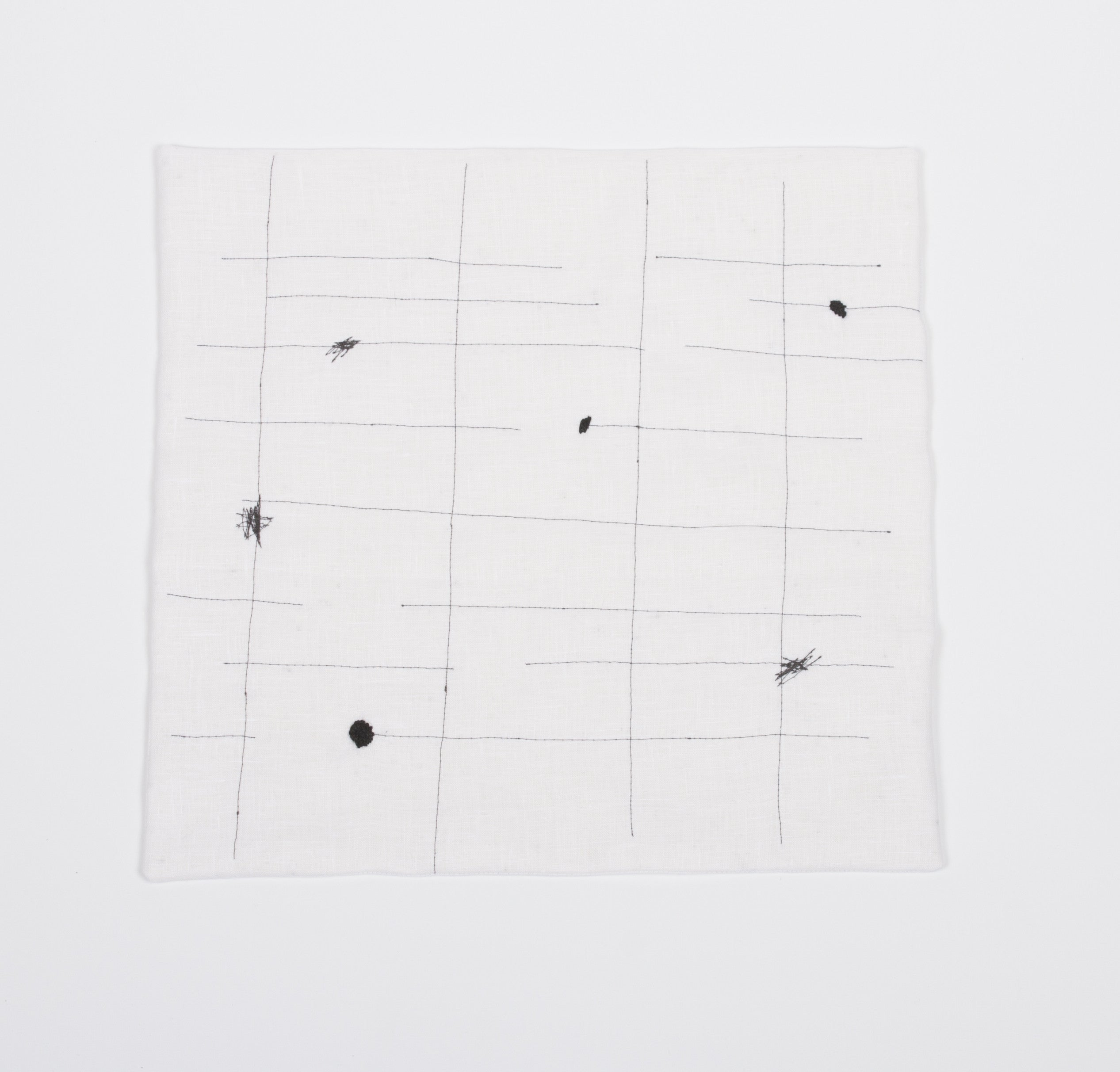 grids with dots and scribbles - set of 2