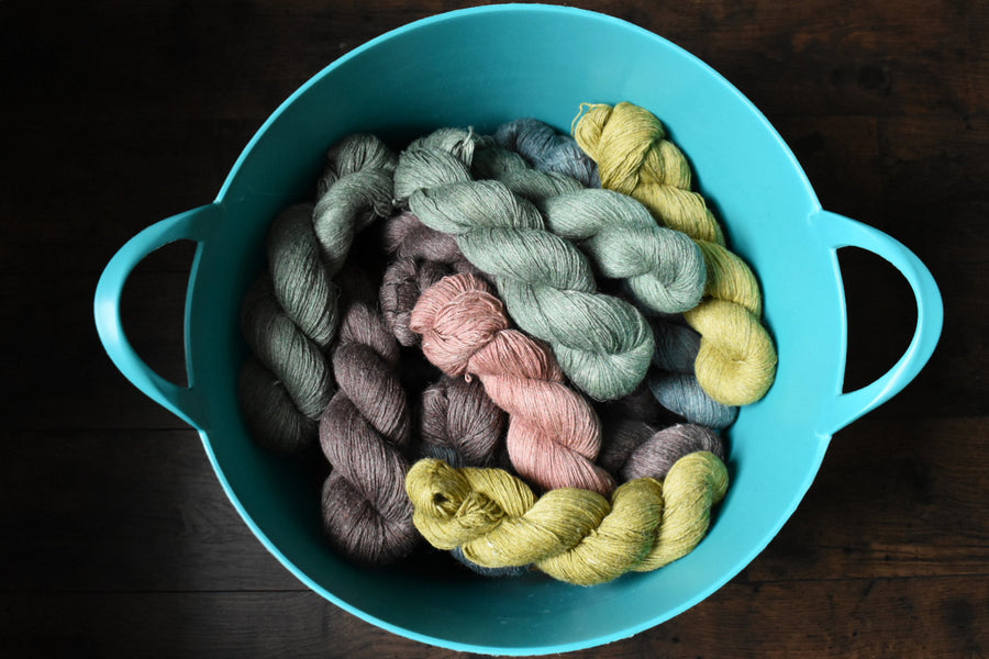 New Summer Yarn: Alpaca/Linen/Silk
