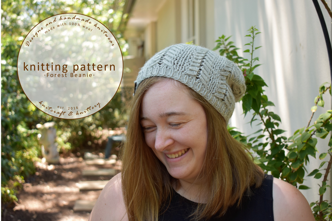 Forest Beanie Knitting Pattern
