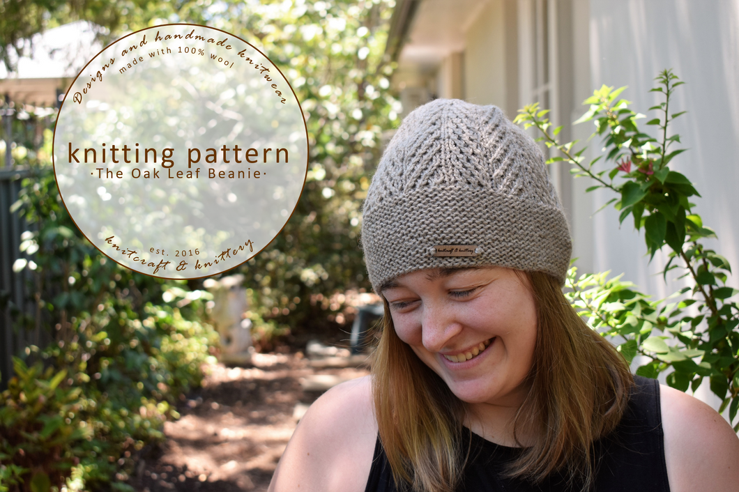 Oak Leaf Beanie Knitting Pattern