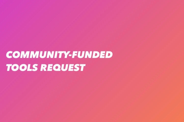Community-Funded Request - 10/13/2020