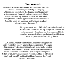 Armor of Words Book of Affirmations Package with Affirmation Cards