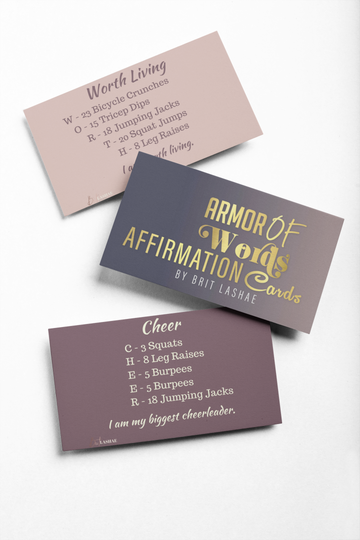Armor of Words Affirmation Cards