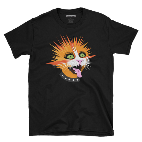Front of Pressure Kitty | Men's/Unisex Super Soft Graphic T-Shirt | nicepressure™