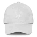 BULLCON™ White Embroidered White Dad Hat | nicepressure™