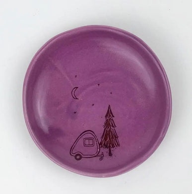 Purple camper ring dish