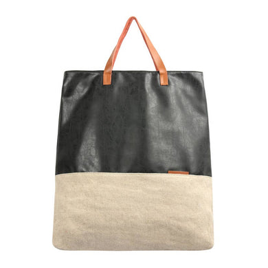 Canvas + Leather Tote Bag