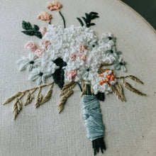 floral bouquet embroidery kit