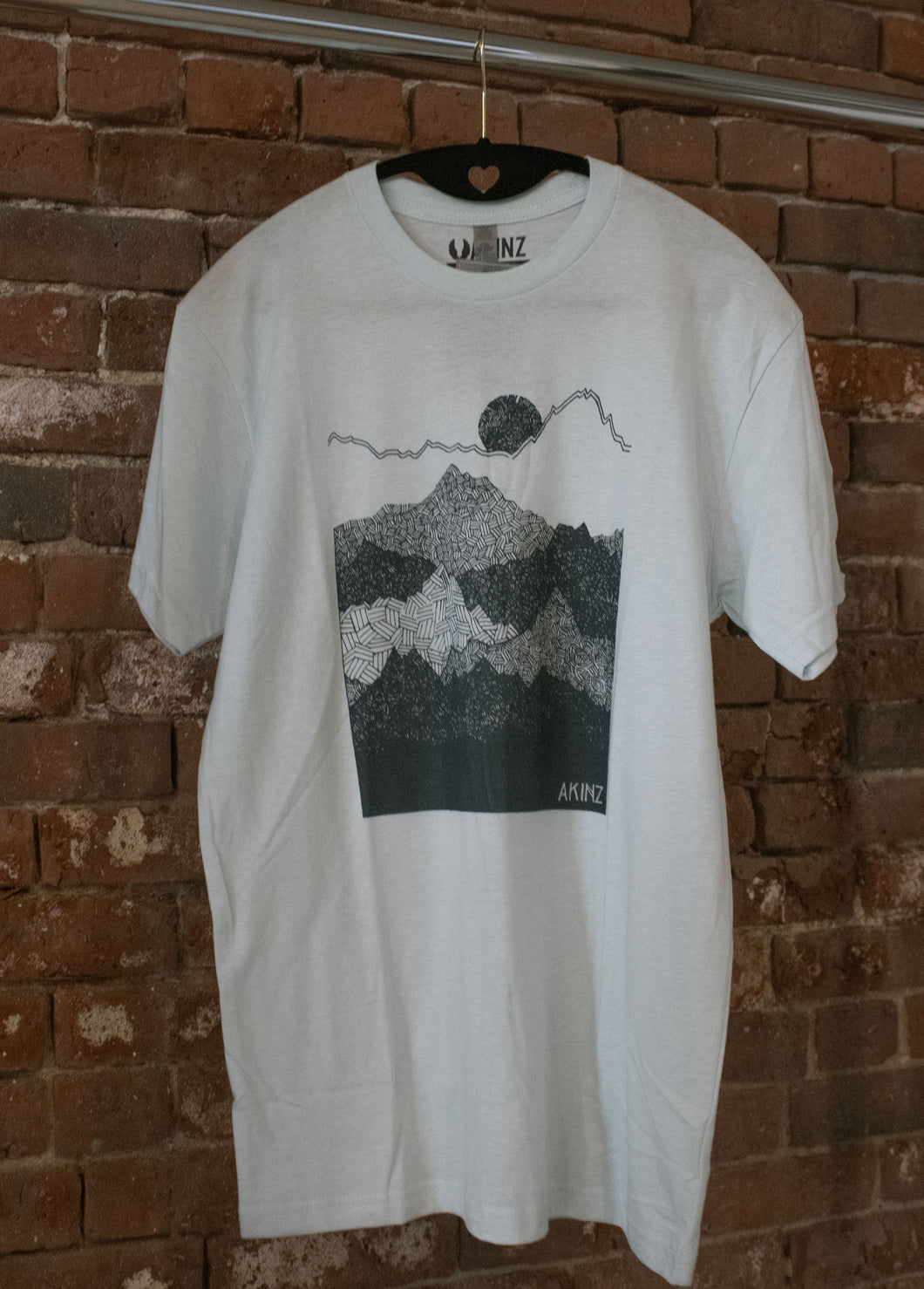 Ice Blue Ascend Mountains Tee Shirt