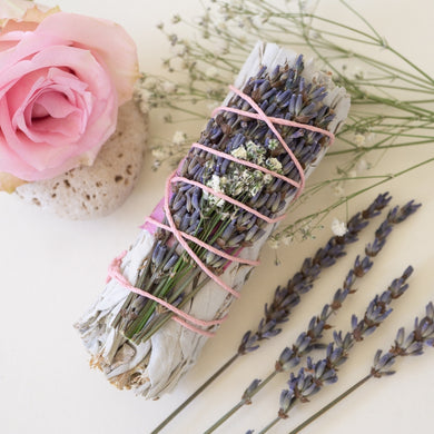 Sage + Lavender Calming Smudge Stick