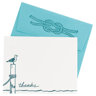 Seagull Thank You Cards - Box of 10