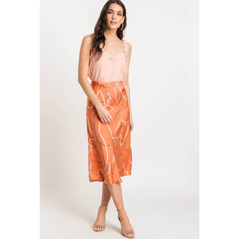 Abstract Midi Skirt