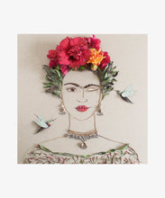 """What Would Frida Do?"" Flower Print 12x12"