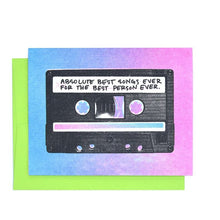 """Best Songs Ever"" Cassette Tape Card"
